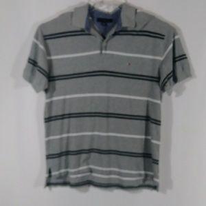 Tommy Hilfiger stripe polo shirt men's size Large